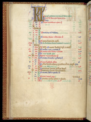 Illuminated Initials And Feasts Of St. Albans, In The Calendar Of A Psalter